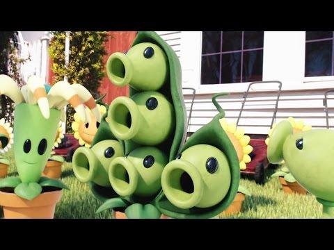 Plants vs Zombies 3D Cartoon Animation PvZ King Hyper Zombie ! 植物大战僵尸!