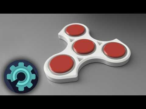 3D-Tulostettu Fidget Spinner (Stressilelu)