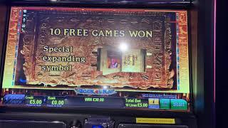 Big win on Book of Ra £5 max bet
