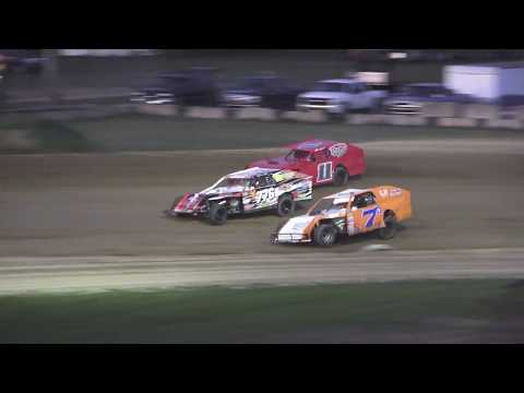I.M.C.A. Heat Race #1 at Crystal Motor Speedway, Michigan on 08-24-2019!
