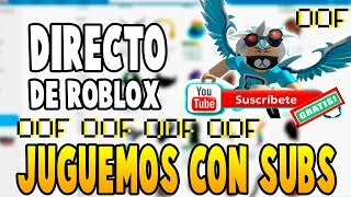 PLAYING WITH SUBS AND DIRECT WITH ZACK ROBLOX MIERCOLES⭐