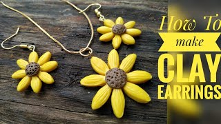How to make clay earrings/ pol…