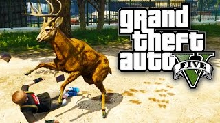 GTA 5 - PLAY AS ANIMALS! / DOGS, DEER & MORE! (GTA V PS4)