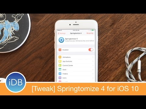 [Tweak] Springtomize 4 is a Major Refresh for iOS 10