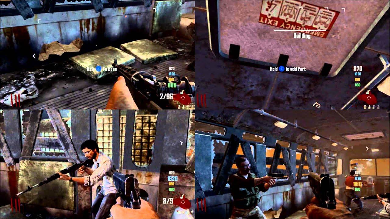 Black Ops 2 - 4 player splitscreen zombies
