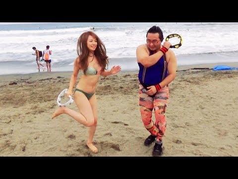 ビーチで出会った人たちとタンバリン叩いて踊ってみた!【鎌倉・由比ヶ浜】
