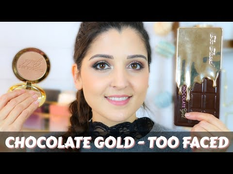 PALETTE CHOCOLATE GOLD ET BRONZER CHOCOLATE GOLD SOLEIL - TOO FACED