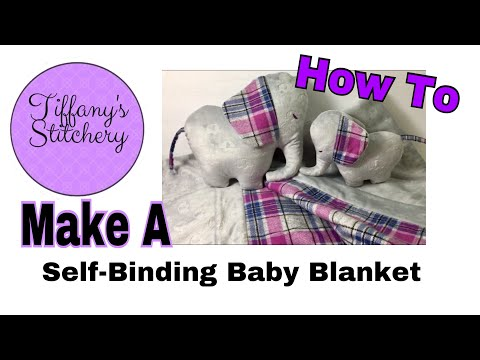 Making a Self-binding baby blanket | Free Pattern