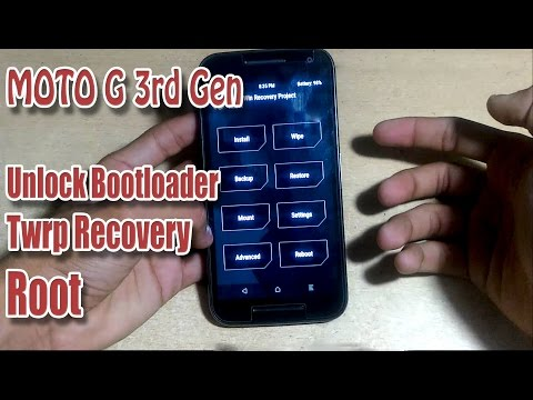 MOTO G 3rd Gen (2015) : Unlock Bootloader, Install Twrp Recovery AND Root