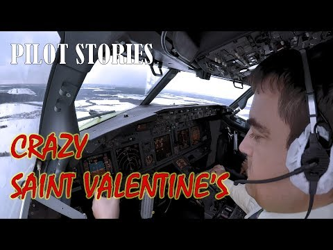 Crazy Saint Valentine's Day. Windy Landing in Moscow