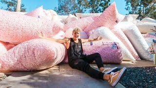 Filling ENTIRE House With 10 MILLION Packing Peanuts