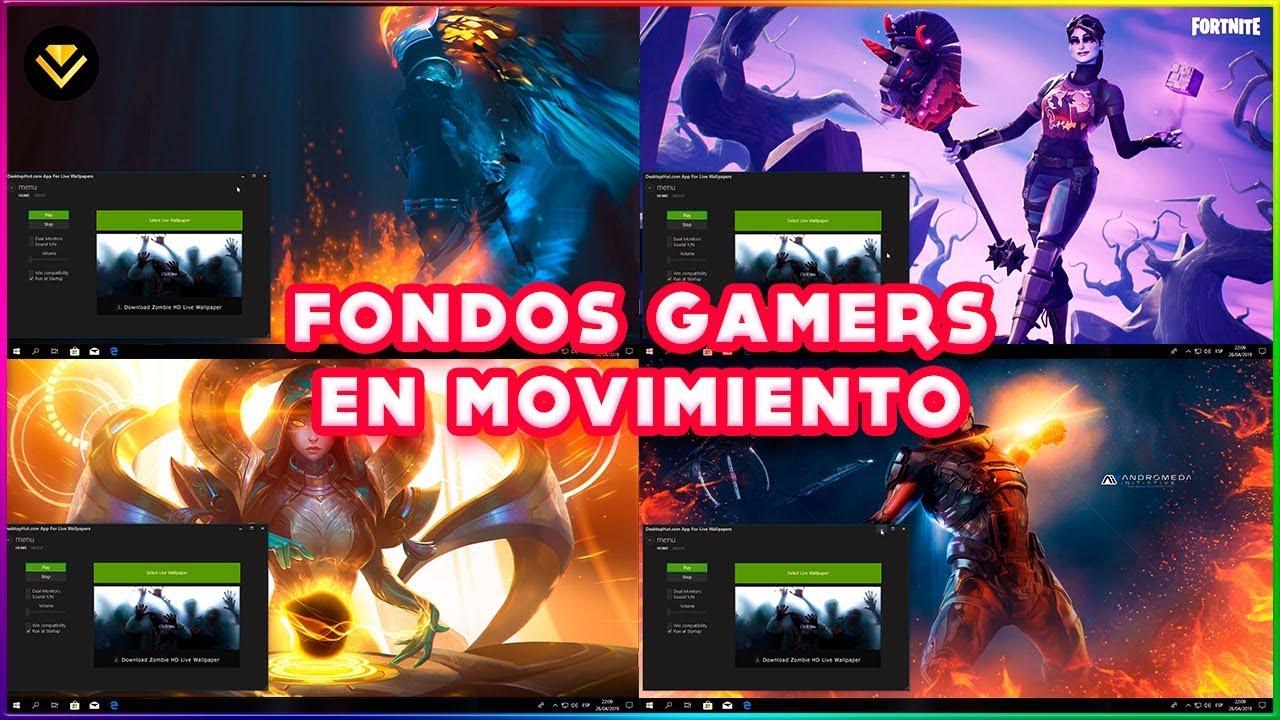 Fondos De Pantalla Con Movimiento Gamer 2020 Ya No Funciona Youtube