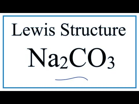 How to Draw the Lewis Dot Structure for Na2CO3: Sodium ... Na2co3 Lewis Structure
