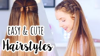 Easy & Cute Hairstyles! | Long Hair Hairstyles