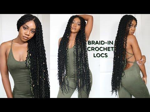 Braid-in Locs Tutorial | Super Long Doubled Crochet Locs | NEW! Faux Locs Method | Jazz Nicole