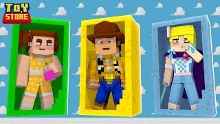 *GABBY GABBY* USES LOVE POTION ON *WOODY* | Toy Story 4 | Minecraft Toy Store |Little Kelly