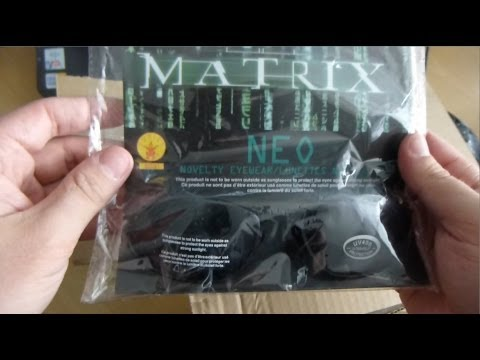 929cb39b84d The Matrix Neo Sunglasses (Unpacking tutorial - How to unpack package with  scissors)