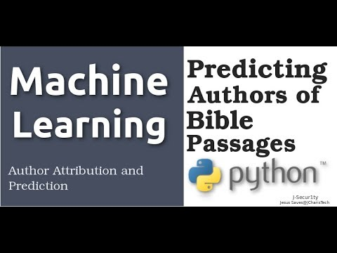 Predicting Authors of Bible Passages with Machine Learning(Author Attribution)