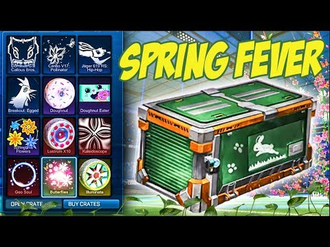 NEW ROCKET LEAGUE  SPRING FEVER CRATES ARE HERE!