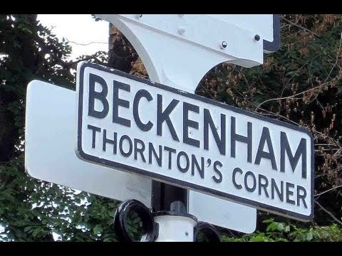 OYEZ! OYEZ! OYEZ!  Thornton's Corner named for posterity at Beckenham, Kent
