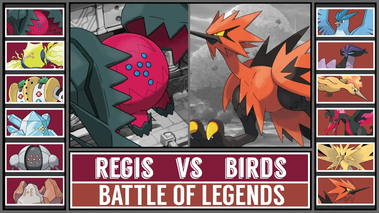Battle of Legends: REGIS vs BIRDS! (Pokémon Crown Tundra)