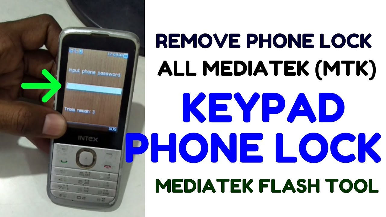 Remove Phone Lock All Mediatek (MTK) Keypad Mobile by tool (without box)