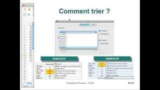 OpenOffice Calc - 08 - Tris et filtres