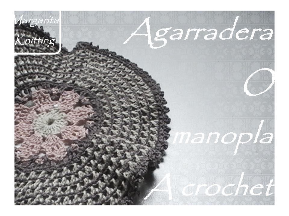 Agarradera - manopla para cocina a crochet (diestro) - YouTube