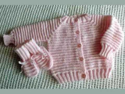 Free Baby Knitting Patterns Only : Baby Sweater Knitting - YouTube