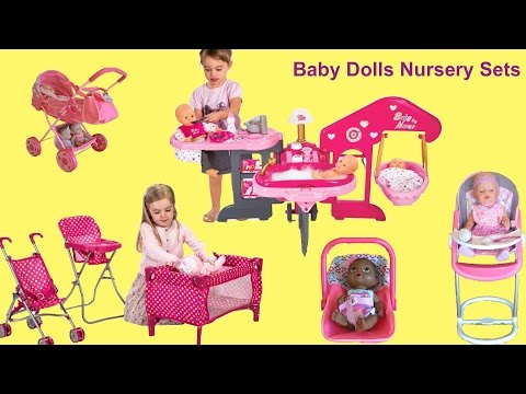 Baby Dolls Nursery Center – Baby Annabell Feeding and Eating, Potty Time, Bath Time and Bed Time