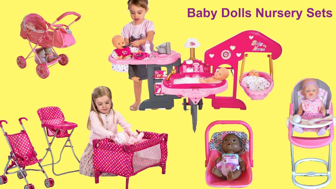 Baby Dolls Nursery Center Annabell Feeding And Eating Potty Time Bath Bed You