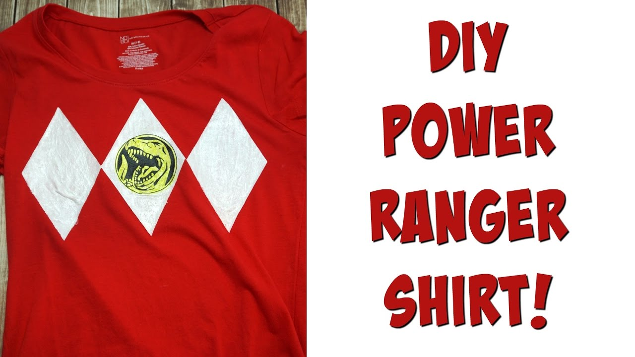 f5b13abc DIY Power Ranger Shirt | Nerdy Crafts Ep. 34 - YouTube
