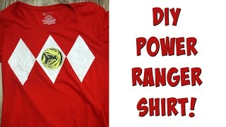 DIY Power Ranger Shirt | Nerdy Crafts Ep. 34