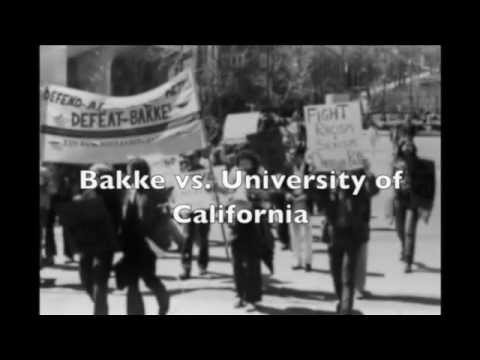 an introduction to the regents of university of california vs bakke Home case briefs constitutional law regents of the university of california v bakke regents of the university of california v bakke posted on november 11 powell ordered that petitioner be admitted because the university could not prove he would have never been admitted but.