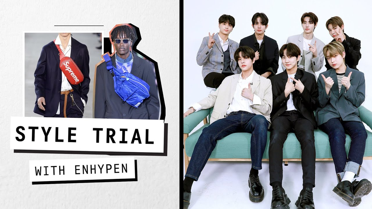 ENHYPEN Reacts to The Latest Fashion Trends | Style Trial | Harper's BAZAAR