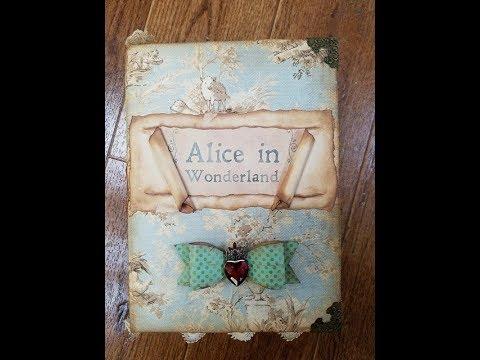 Booksmith Classics Challenge Junk Journal Flip Book - Alice in Wonderland