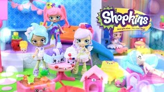Unbox Daily:  Shopkins Happy Places -  Pia Puzzle, Macy Macaron, Fria Froyo - Doll Review - 4K