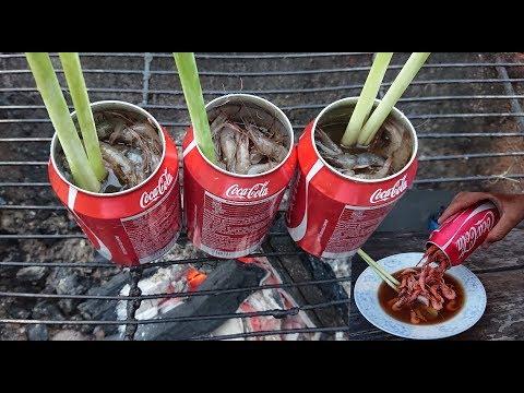Coca Cola Shrimp Recipe  Beautiful Girl Cook Shrimp With Coca Cola In Cambodia