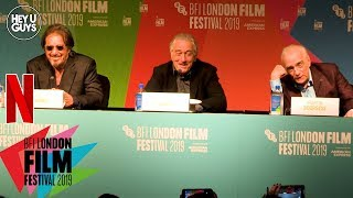 Robert De Niro, Al Pacino & Martin Scorsese - The Irishman Press Conference in Full