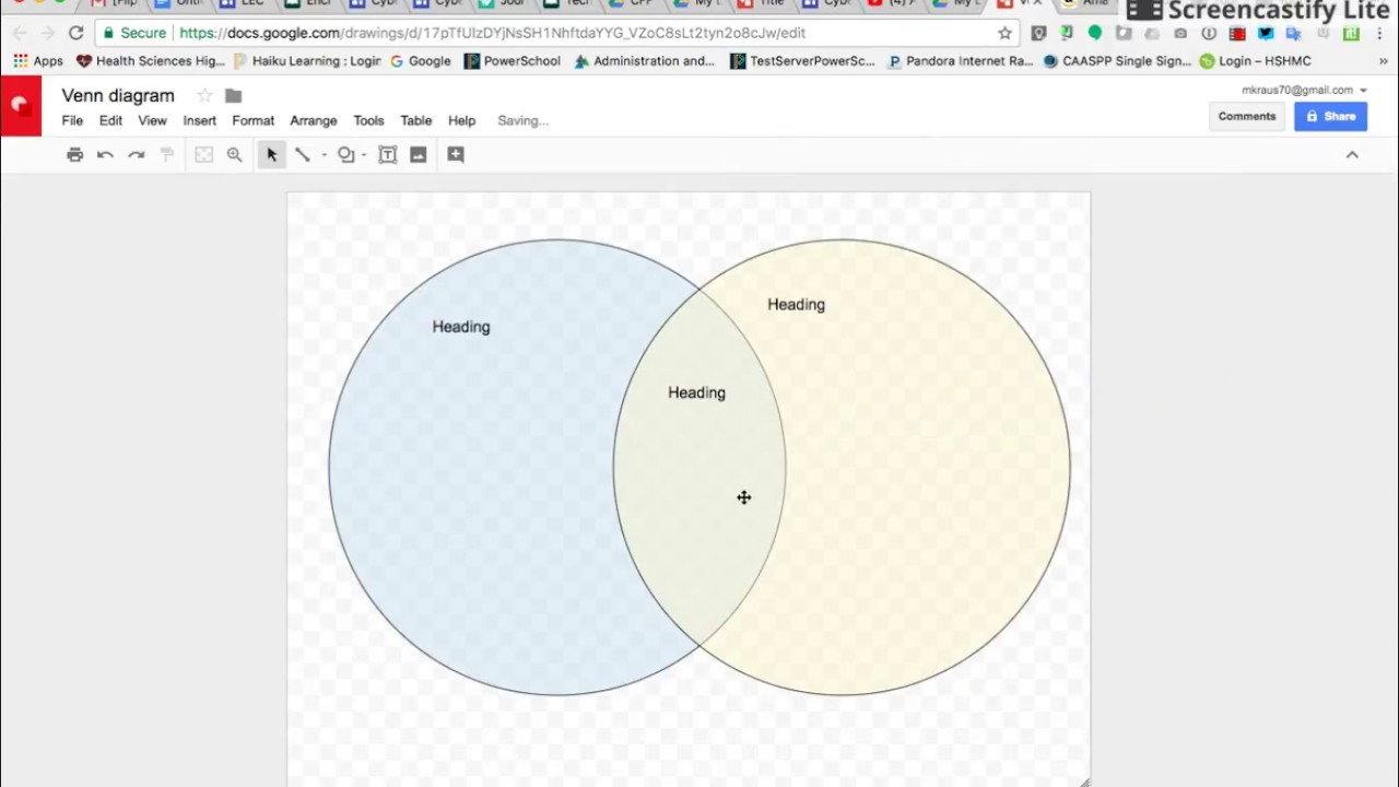 Create A Transparent Venn Diagram In Google Drawing
