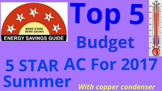 Top 5 Budget 5star,1.5tr split ac with copper Condenser, LINK TO BUY AC ARE AVAILABLE IN DISCRIPTION