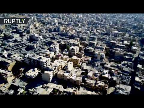 Ghost Town: Aerial footage of ruined Raqqa