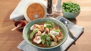 Овощной суп с кавказским сыром