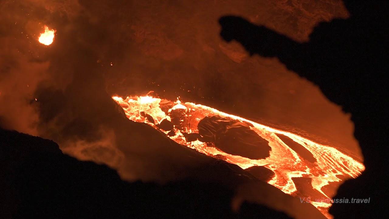 Река расплавленной лавы, вулкан Эрта-Але, Эфиопия