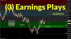 3 Set-Ups for Earning Season | Crude Oil, Emini, Nasdaq, Gold, Euro