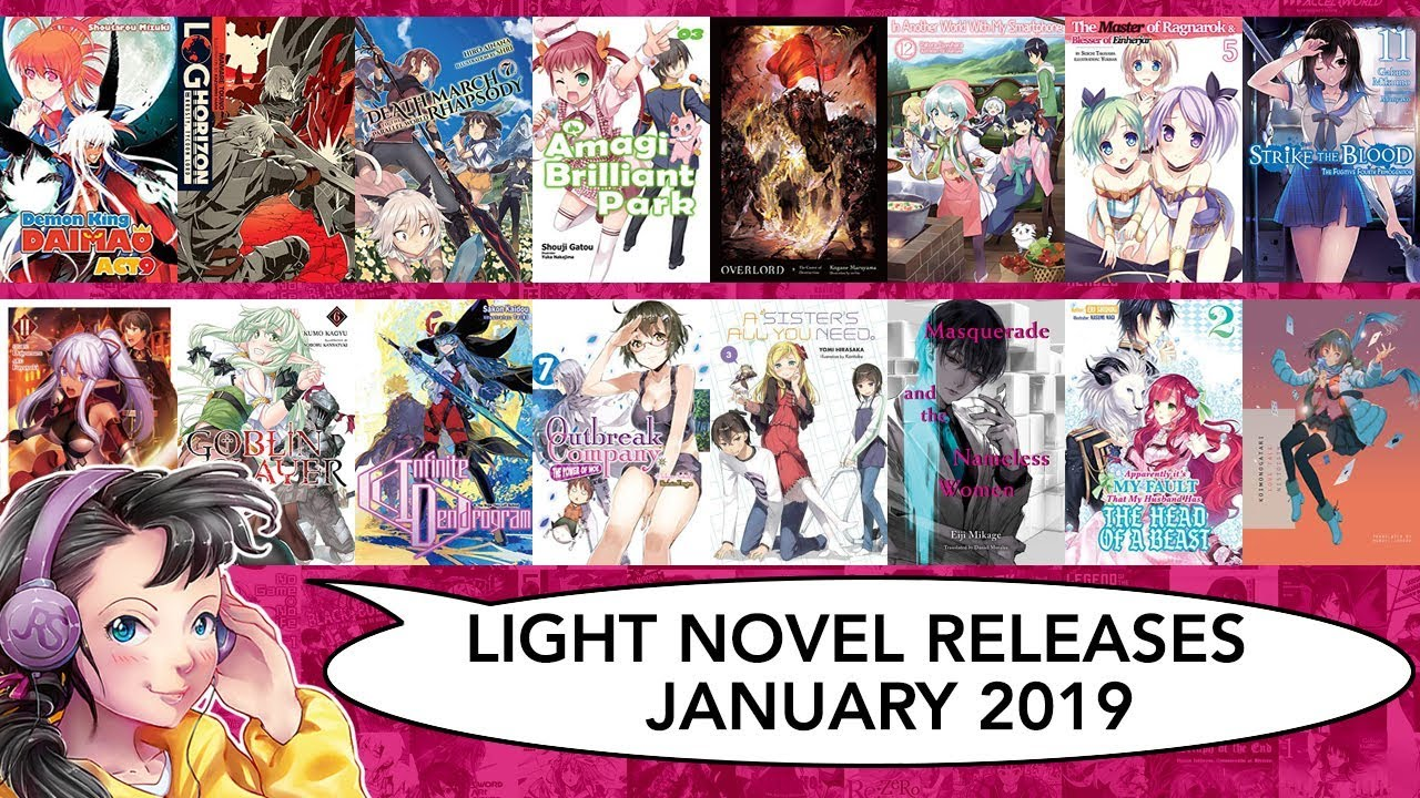 Light Novel Releases for January 2019 #LightNovel