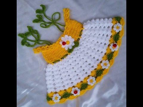 Easy Crochet Baby Dress Daisy Dress Model Cute Soft