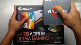AMD Ryzen 5 2600X GIGABYTE X470 AORUS ULTRA GAMING Cooler Master MASTERLIQUID ML120L RGB