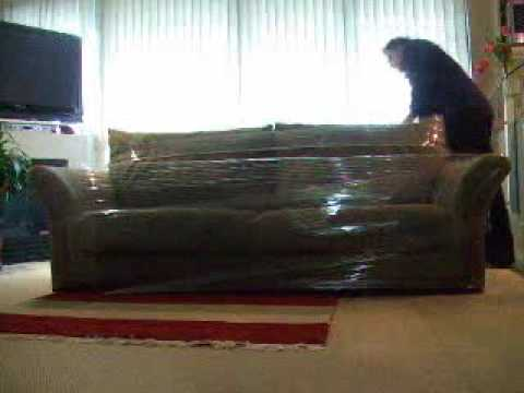 How to Shrink Wrap a Couch with MoveWrap  YouTube