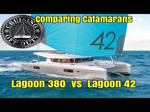 Annapolis Sailboat Show 2017.  Comparing Catamarans.  Lagoon 38' vs 42'.  Ep88